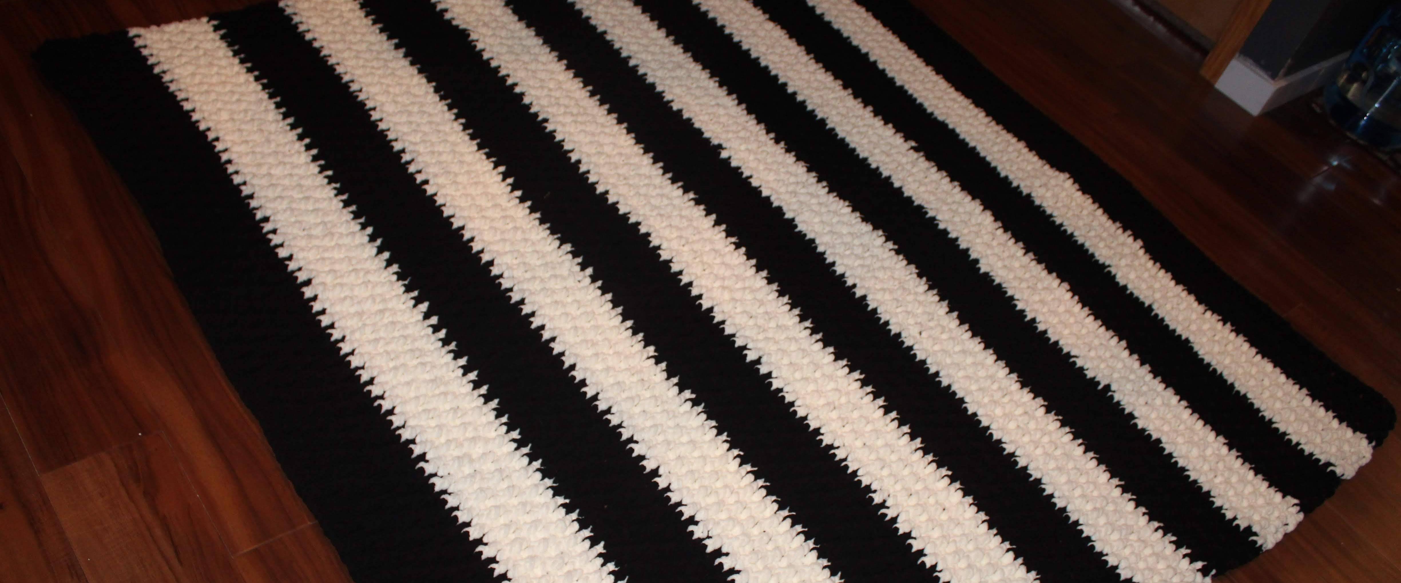 black and white striped blanket